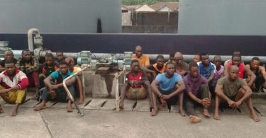 The Nigerian Navy, Forward Operating Base (FOB), Igbokoda, on Sunday, said no fewer than 24 suspected illegal oil thieves were arrested on the coastal waters