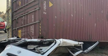 3 killed, 4 injured as container falls on commercial bus in Ibadan