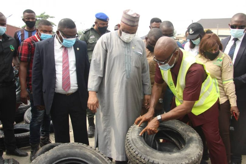 SON destroys N300m gas cylinders, cables, used tyres