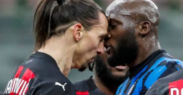 Ibrahimovic sent off as Inter Milan beat AC Milan in Italian Cup derby