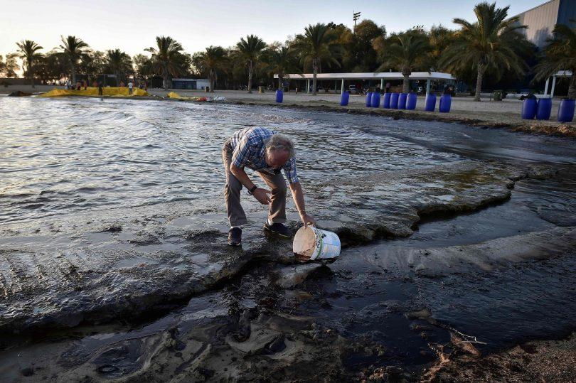 Greek coy denies responsibility for oil spill along Israeli coast