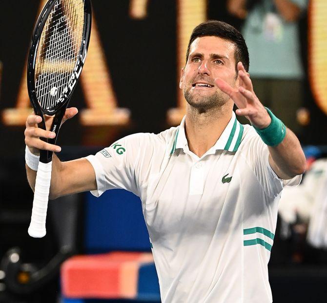 Djokovic reaches ninth Australian Open final