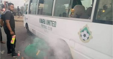 Kwara United say none injured, no life lost after team bus caught fire in Asaba