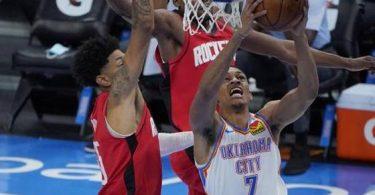 NBA roundup: Rockets shoot to sixth consecutive win