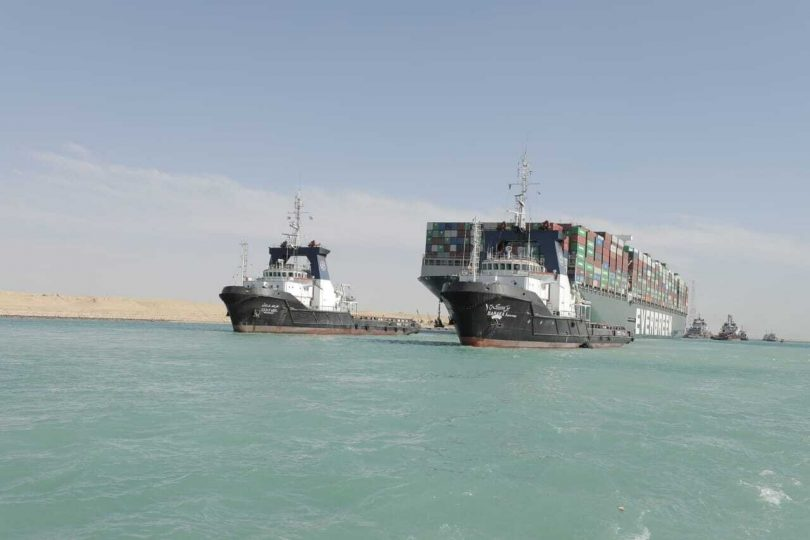 Two Aframax tankers ran aground in Suez Canal