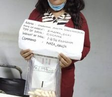 NDLEA arrests mother of 3 with 100 cocaine wraps