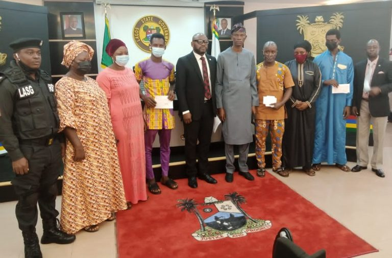 Gov. Sanwo-Olu honours 3 dead policemen with N30m in Lagos