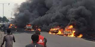 1 dies, 13 luxury buses burnt in Onitsha inferno