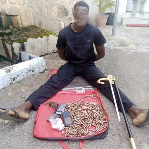 Troops arrest Police sergeant with 370 rounds of ammunition in Plateau
